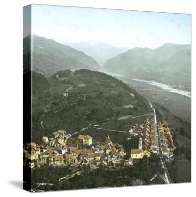 Thusis (Switzerland), Overview and the Valley of the Rhine, Circa 1865-Leon, Levy et Fils-Stretched Canvas Print