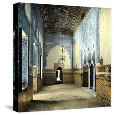 Seville (Spain), the Alcazar, the Resting Room of the Moorish Kings-Leon, Levy et Fils-Stretched Canvas Print