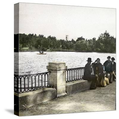 Madrid (Spain), Pond in Buen Retiro-Leon, Levy et Fils-Stretched Canvas Print