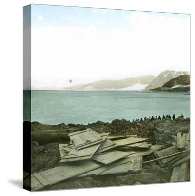 Spitsbergen, Andree Expedition to the North Pole, Departure of the Balloon, July 11, 1897, 2H30-Leon, Levy et Fils-Stretched Canvas Print