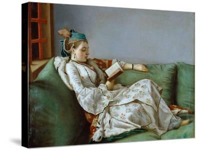 Portrait of Marie Adelaide of France by Jean-Etienne Liotard--Stretched Canvas Print