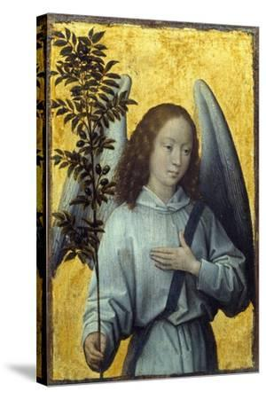 Angel Holding an Olive Branch by Hans Memling--Stretched Canvas Print