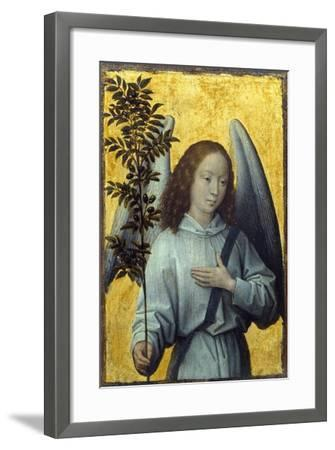 Angel Holding an Olive Branch by Hans Memling--Framed Premium Photographic Print