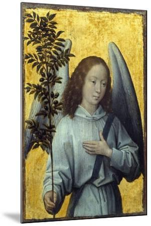 Angel Holding an Olive Branch by Hans Memling--Mounted Premium Photographic Print