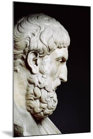 Bust Sculpture of Epicurus--Mounted Premium Photographic Print
