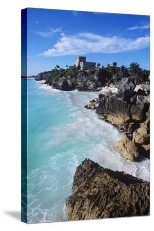 Mexico, Yucatan Peninsula, Carribean Sea at Tulum, the Only Mayan Ruin by Sea-Chris Cheadle-Stretched Canvas Print