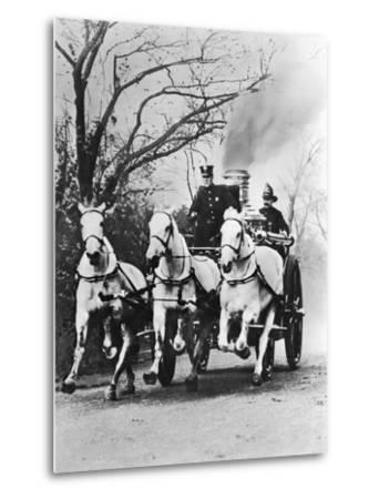 Fire Engine under Full Steam--Metal Print
