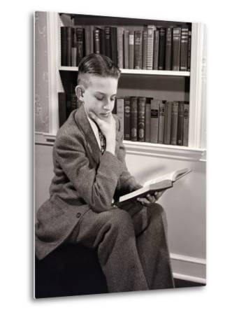 Boy Reading-Philip Gendreau-Metal Print