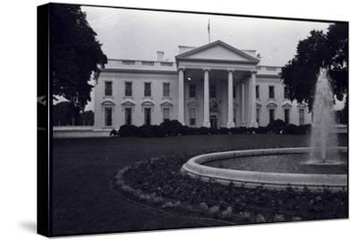 Facade of the White House--Stretched Canvas Print