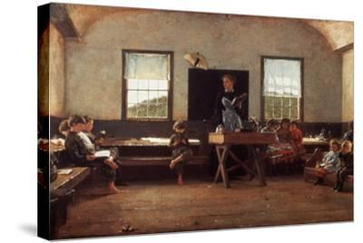 Winslow Homer: the Country School--Stretched Canvas Print