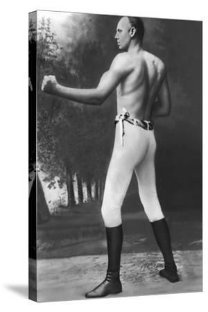 Full Length Muscular Bob Fitzsimmons--Stretched Canvas Print