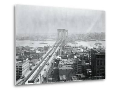 Brooklyn Bridge from World Building--Metal Print