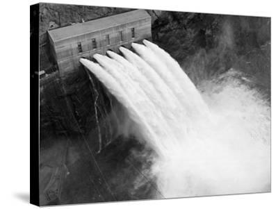 Irrigation Valves at Boulder Dam--Stretched Canvas Print