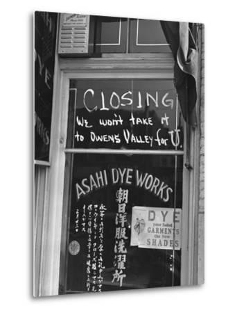 Little Tokyo Dye Works-Russell Lee-Metal Print