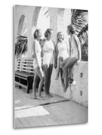 Women Gather Poolside-Philip Gendreau-Metal Print