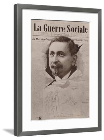 La Guerre Sociale, French Socialist Newspaper--Framed Giclee Print