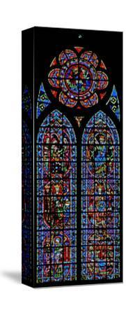 Window W203 Depicting the Annunciation and Childhood of Christ--Stretched Canvas Print
