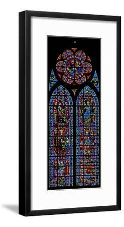 Window W203 Depicting the Annunciation and Childhood of Christ--Framed Giclee Print