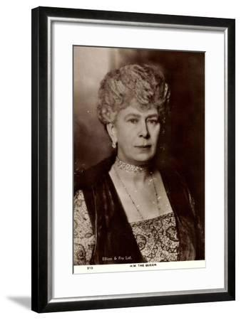 H.M. Queen Mary of England, Maria Von Teck, Portrait--Framed Giclee Print
