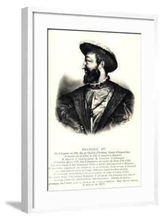 Künstler König Francois 1Er, Comte D'Angloulême--Framed Giclee Print