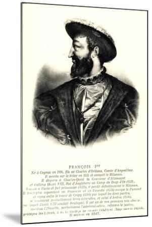 Künstler König Francois 1Er, Comte D'Angloulême--Mounted Giclee Print