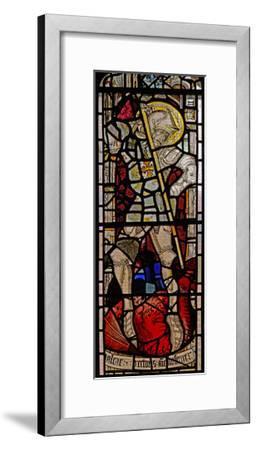Window EW Depicting St George--Framed Giclee Print