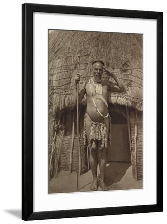 Postcard Depicting a Zulu Headman--Framed Photographic Print