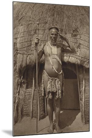 Postcard Depicting a Zulu Headman--Mounted Photographic Print