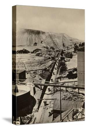 Postcard Depicting a Mine Dump at the Robinson Deep Gold Mine--Stretched Canvas Print