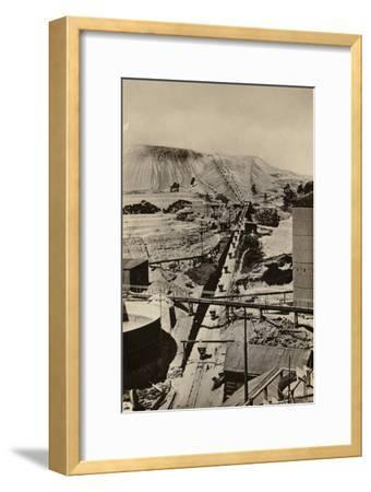 Postcard Depicting a Mine Dump at the Robinson Deep Gold Mine--Framed Photographic Print