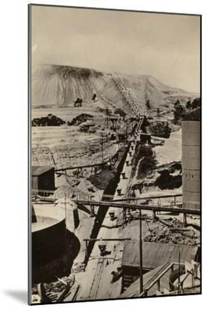 Postcard Depicting a Mine Dump at the Robinson Deep Gold Mine--Mounted Photographic Print