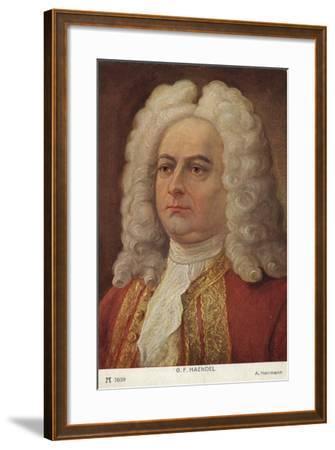 Portrait of George Friedrich Handel--Framed Giclee Print