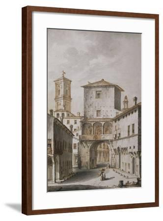 Bologna, Voltone, known as Mezzavacca, One of Gates of City, 1797--Framed Giclee Print