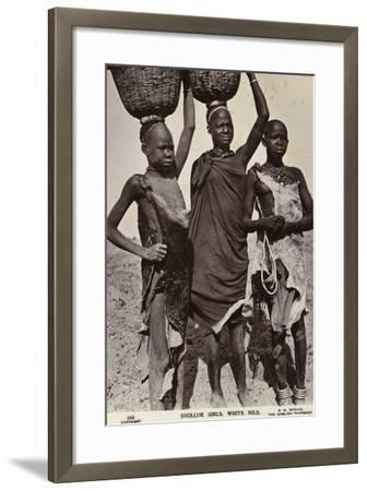 Shulluk Girls, White Nile--Framed Photographic Print