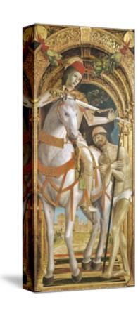 St. Martin Sharing His Cloak--Stretched Canvas Print
