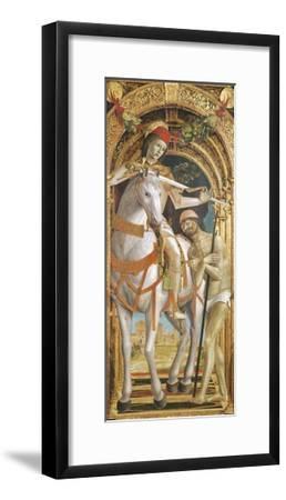St. Martin Sharing His Cloak--Framed Giclee Print