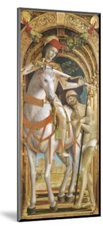 St. Martin Sharing His Cloak--Mounted Giclee Print