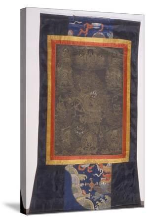 Thangka of Dharmapala--Stretched Canvas Print