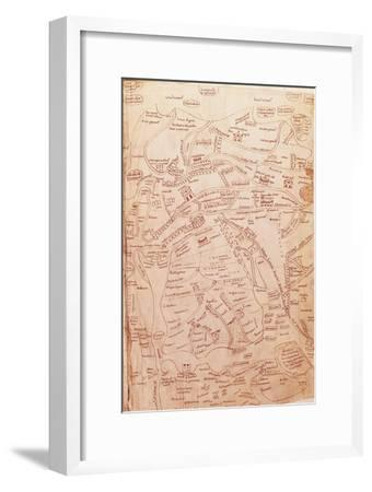 Parchment Map Representing the Holy Land and Adjacent Regions--Framed Giclee Print