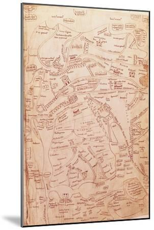 Parchment Map Representing the Holy Land and Adjacent Regions--Mounted Giclee Print
