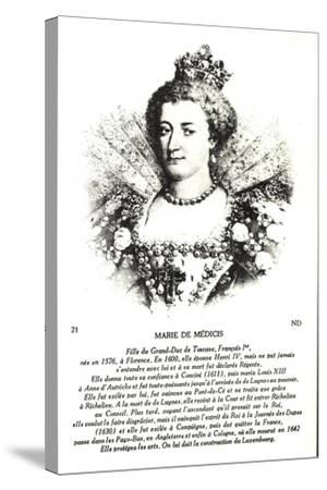 Maria Di Medici, Frau Heinrich Des IV--Stretched Canvas Print