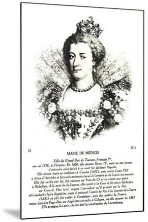 Maria Di Medici, Frau Heinrich Des IV--Mounted Giclee Print