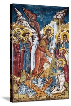 Romania, Moldovita Monastery, Transfiguration Painted in 1537--Stretched Canvas Print