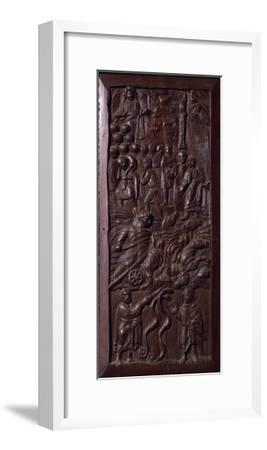 Panel from Wooden Door of Basilica of St Sabine, Rome, Italy, 5th Century--Framed Giclee Print