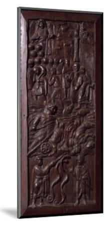 Panel from Wooden Door of Basilica of St Sabine, Rome, Italy, 5th Century--Mounted Giclee Print