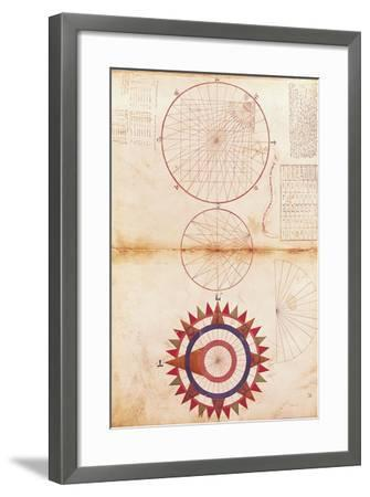 Andrea Bianco Study of Meridian and Parallel Lines and Cardinal Points--Framed Giclee Print