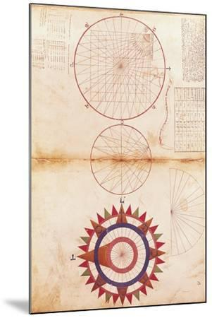 Andrea Bianco Study of Meridian and Parallel Lines and Cardinal Points--Mounted Giclee Print