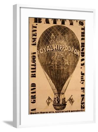 A Grand Balloon Ascent, Batty's, Thursday, July 1St, 1852--Framed Giclee Print