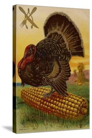 Thanksgiving Card--Stretched Canvas Print