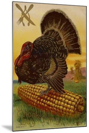 Thanksgiving Card--Mounted Giclee Print